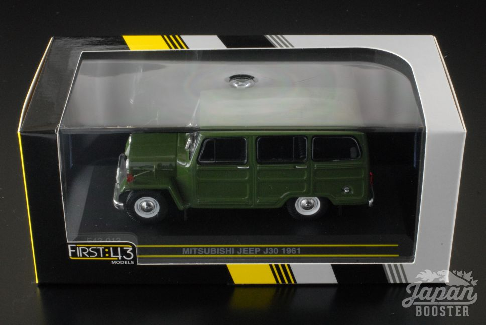 first43 1 43 mitsubishi jeep j30 1961 green f43 013 ebay. Black Bedroom Furniture Sets. Home Design Ideas